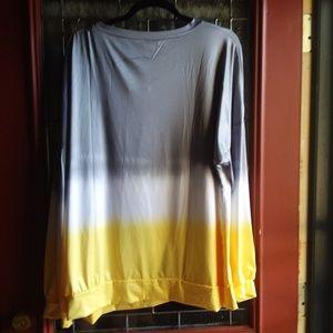 Hippie's Closet Gray stripe silk shirt